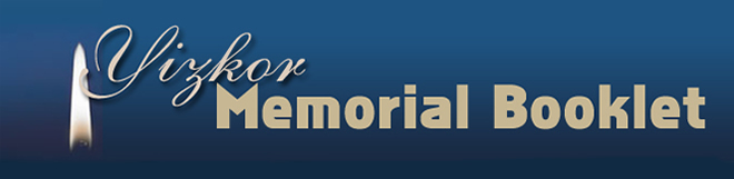 Yizkor Memorial Booklet
